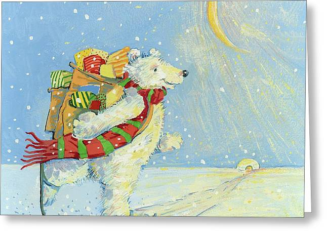 Christmas Homecoming Greeting Card by David Cooke