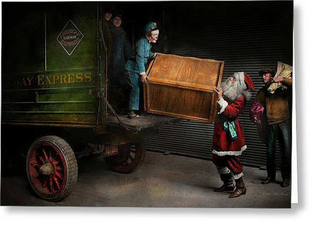 Christmas - How Santa Ruined Christmas 1924 Greeting Card by Mike Savad