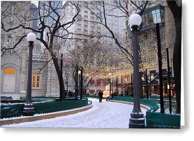 Christmas In Chicago Greeting Card