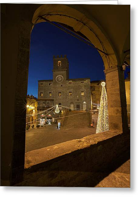 christmas in Cortona 3 Greeting Card by Al Hurley