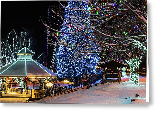 Greeting Card featuring the photograph Christmas In Leavenworth by Dan Mihai
