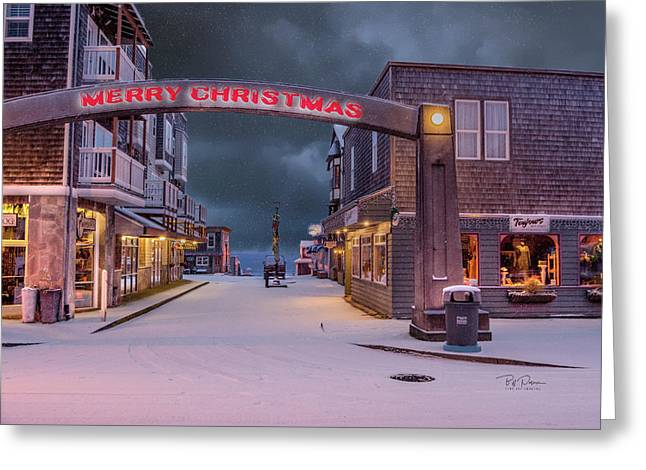 Christmas In Nye Beach Greeting Card