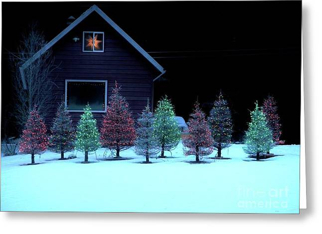 Greeting Card featuring the photograph Christmas In Petersburg by Laura Wong-Rose