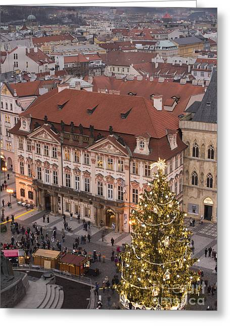 Christmas In Prague Greeting Card by Juli Scalzi