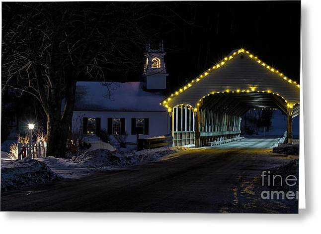 Christmas In Stark New Hampshire Greeting Card