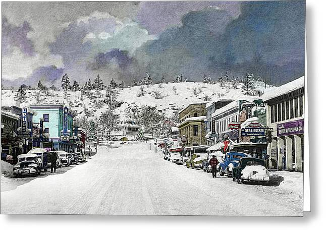 Christmas In Susanville, 1953 Greeting Card