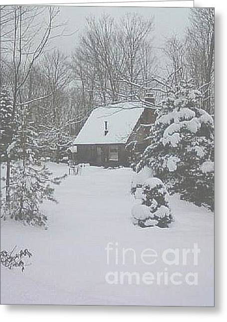 Christmas In The Woods Greeting Card by Melissa Miller