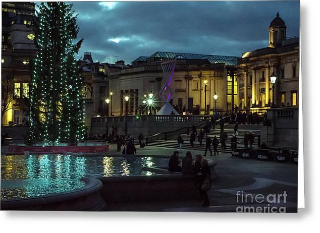 Christmas In Trafalgar Square, London 2 Greeting Card