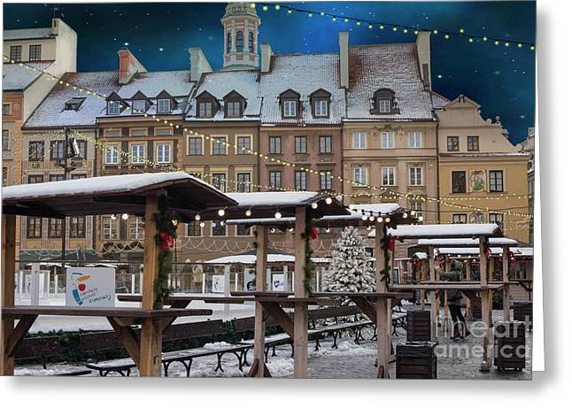 Greeting Card featuring the photograph Christmas In Warsaw by Juli Scalzi