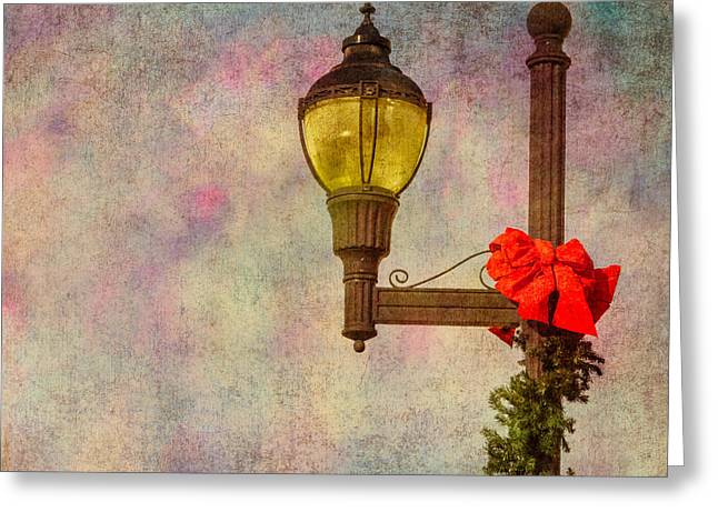 Christmas Lamp Post Greeting Card by Phillip Burrow