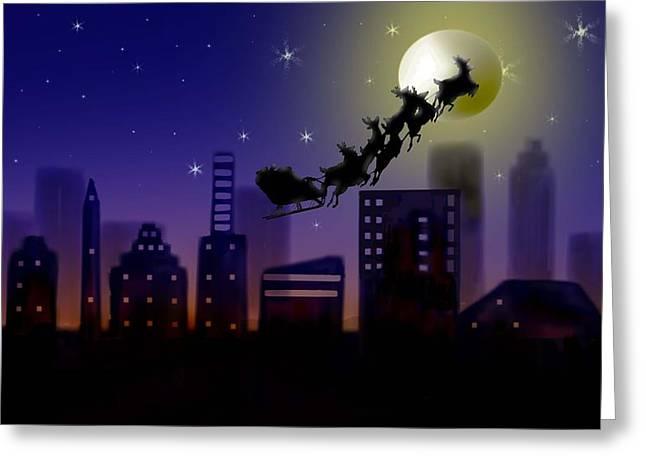 Christmas Landscape IIi Greeting Card