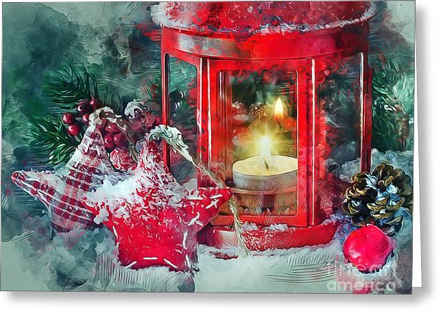 Christmas Lantern Greeting Card