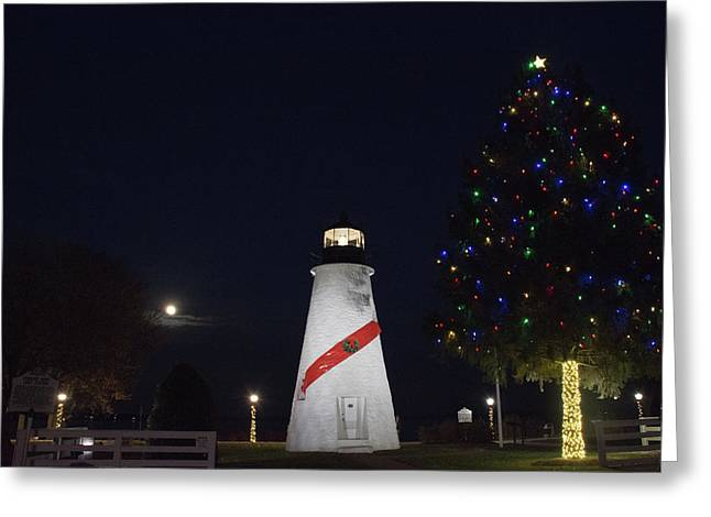 Christmas Lighthouse Greeting Card