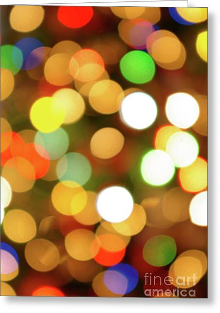 Wish Greeting Cards - Christmas Lights Greeting Card by Carlos Caetano
