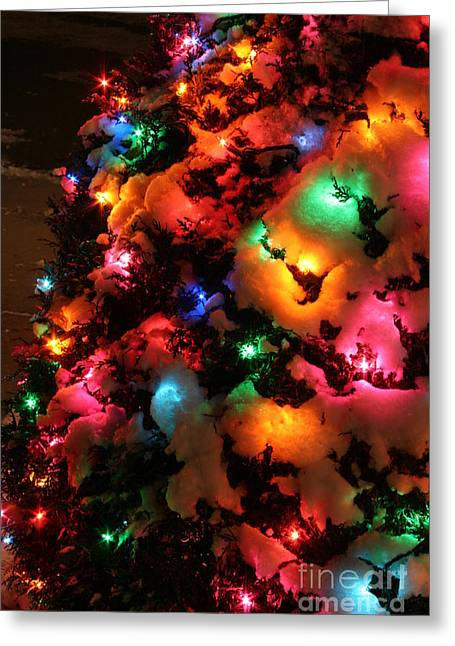 Christmas Lights Coldplay Greeting Card