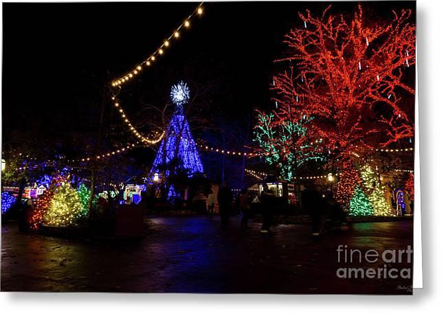 Christmas Lights Galore Greeting Card by Jennifer White