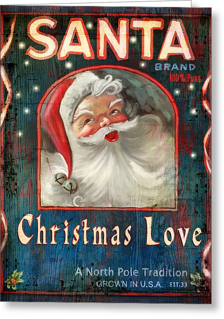 North Mixed Media Greeting Cards - Christmas love Greeting Card by Joel Payne