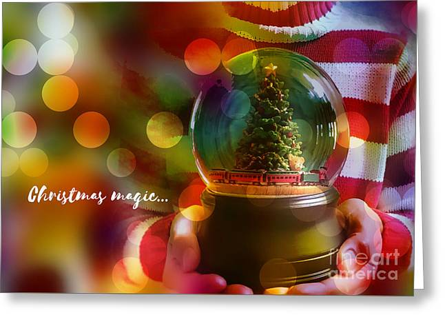 Greeting Card featuring the digital art Christmas Magic 2016 by Kathryn Strick