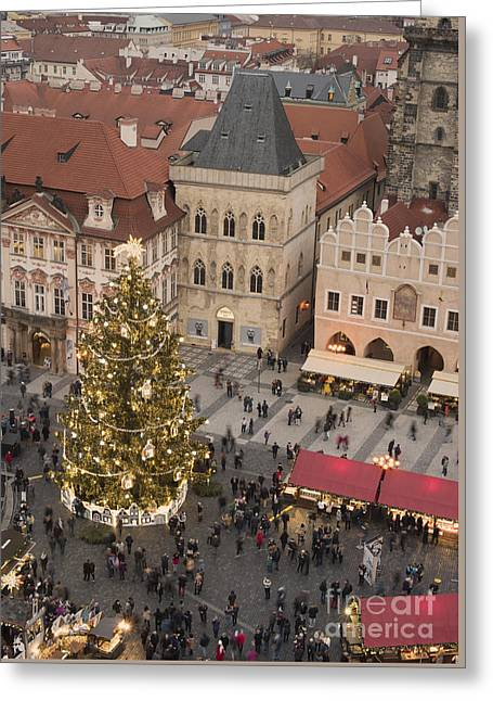 Christmas Market. Prague Greeting Card by Juli Scalzi