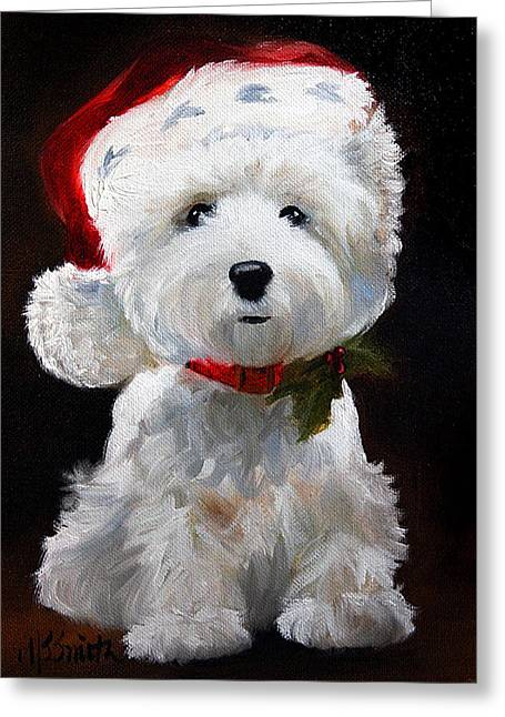 Christmas Greeting Card by Mary Sparrow