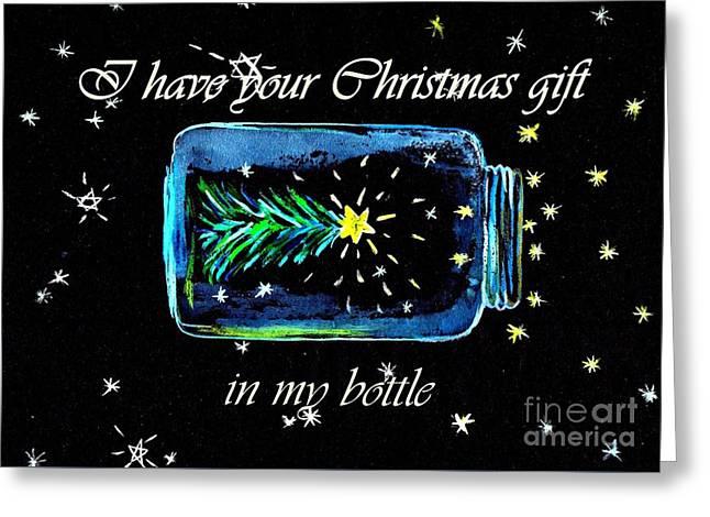 Christmas Mason Jar Greeting Card by Sweeping Girl