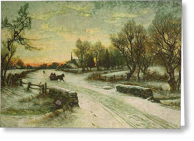 Christmas Morn Greeting Card by Design Turnpike