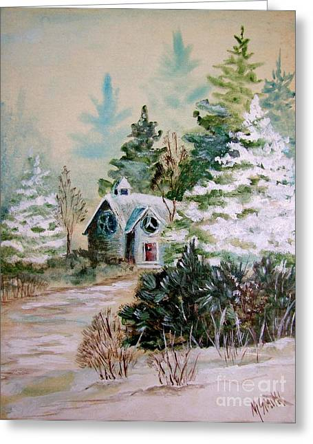 Christmas Morn Greeting Card by Marilyn Smith
