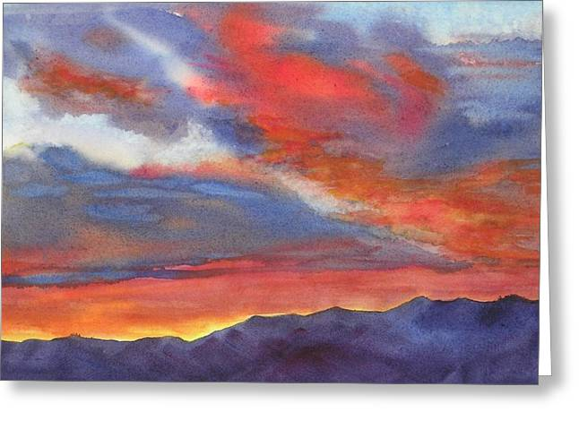 Greeting Card featuring the painting Christmas Morning by Pat Crowther