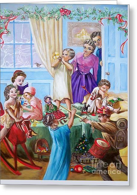 Greeting Card featuring the painting Christmas Morning by Sigrid Tune