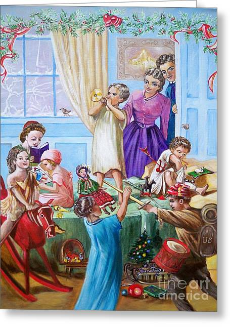 American History  We Say Merry  Christmas  Because It Is Christmas  Greeting Card