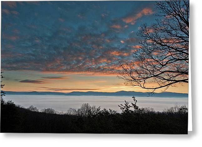 Greeting Card featuring the photograph Christmas Morning Sunrise 2016 by Lara Ellis