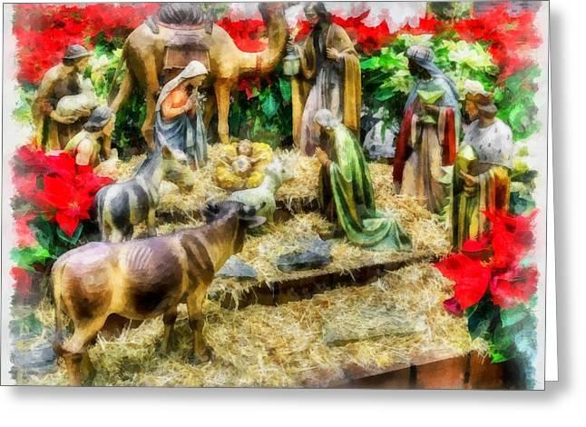 Christmas Nativity Greeting Card by Esoterica Art Agency