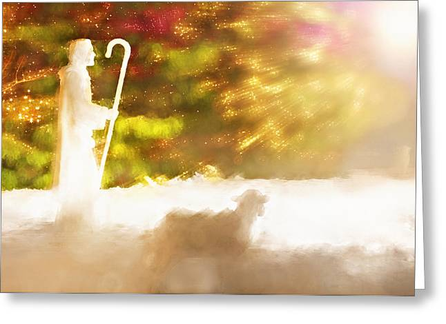 Christmas Nativity - Temple Square Salt Lake City Utah Greeting Card by Steve Ohlsen
