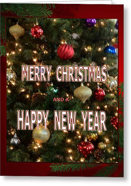 Christmas New Year Card Greeting Card