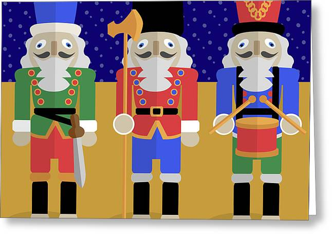Christmas Nutcrackers  Greeting Card