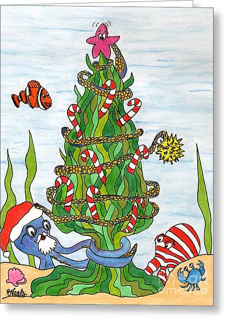 Christmas Of The Sea Tree Greeting Card