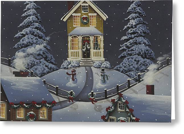 Christmas On Hickory Hill Greeting Card