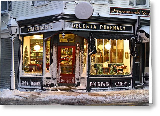 Christmas On Main St. Greeting Card by Butch Lombardi