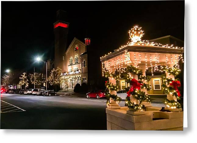 Christmas On Main Street Easthampton Greeting Card