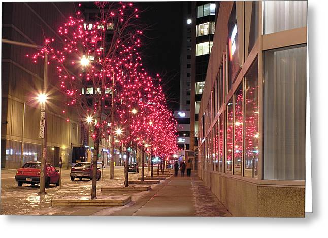 Christmas On Ottawa Street Greeting Card by Richard Mitchell