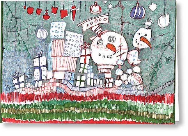 Christmas On The Edge Greeting Card