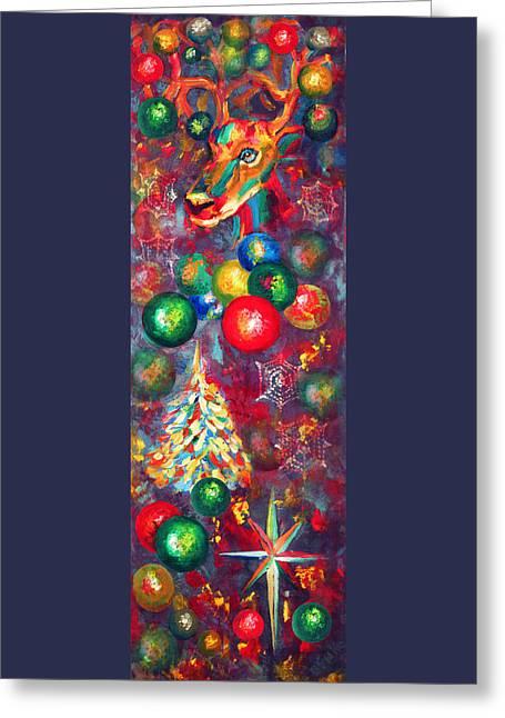 Christmas Orbs Greeting Card by Peter Bonk