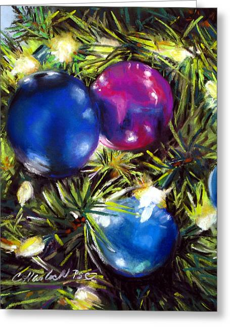 Christmas Ornaments Greeting Card by Carole Haslock