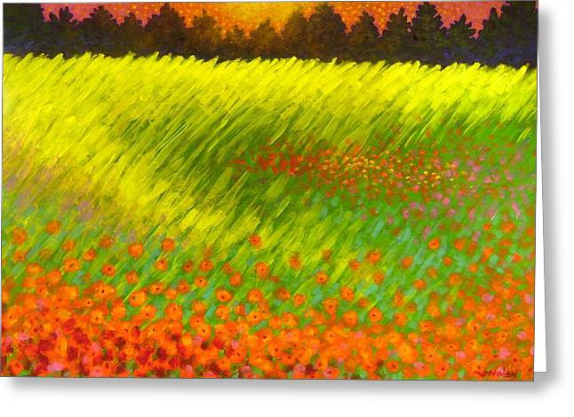 Christmas Poppies Greeting Card by John  Nolan