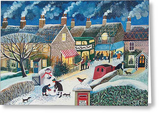 Christmas Post Greeting Card by Lisa Graa Jensen