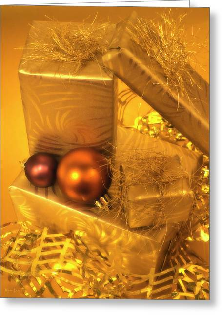 Christmas Presents Greeting Card by Wim Lanclus