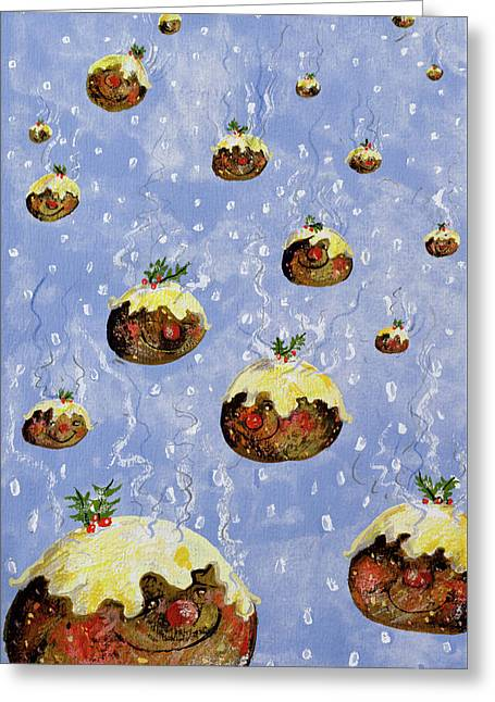Christmas Puddings Greeting Card