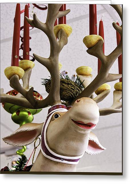 Greeting Card featuring the photograph Christmas Reindeer Games by Betty Denise
