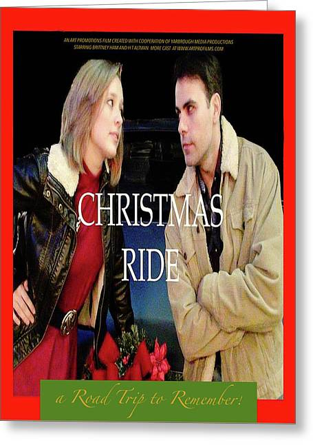 Christmas Ride Poster 16 Greeting Card by Karen Francis