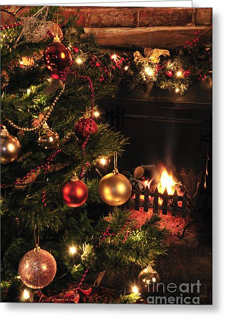 Christmas Round The Fire Greeting Card by Andy Smy